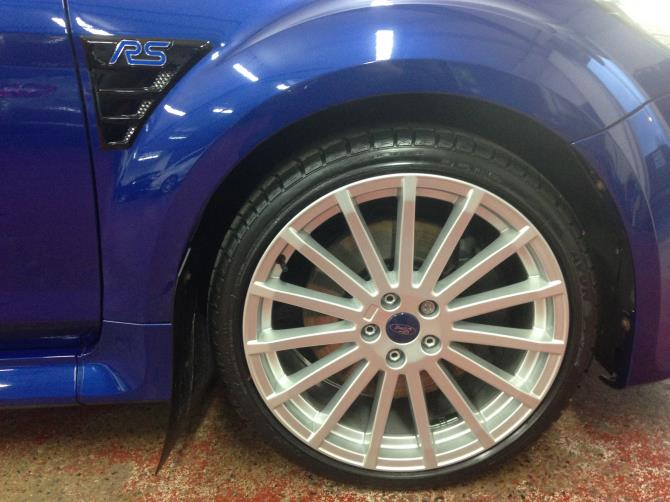 Blue Focus RS Wheel and Arch